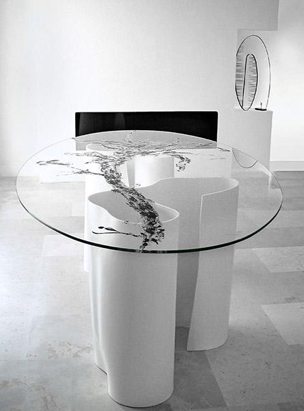 Mesa de cristal Ondina